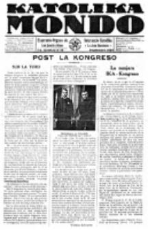Katolika Mondo : sendependa oficiala organo por tutmondaj interesoj katolikaj : gazeto de Internacio Katolika. Jarkolekto 7, numero 10