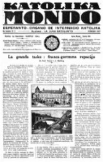 Katolika Mondo : sendependa oficiala organo por tutmondaj interesoj katolikaj : gazeto de Internacio Katolika. Jarkolekto 8, 1927.