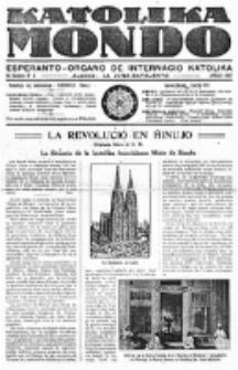 Katolika Mondo : sendependa oficiala organo por tutmondaj interesoj katolikaj : gazeto de Internacio Katolika. Jarkolekto 8, numero 4