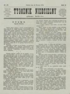 Tygodnik Niedzielny. Nr 37 (10 Września 1876)