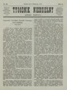 Tygodnik Niedzielny. Nr 41 (8 Października 1876)