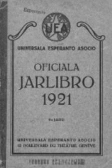 Oficiala Jarlibro. 1921
