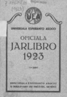 Oficiala Jarlibro. 1923