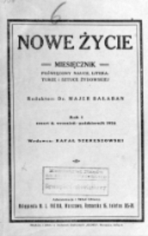 Nowe Życie : miesięcznik poświęcony nauce, literaturze i sztuce żydowskiej. R. 1, t. 2, z. 4 (wrzesień/październik 1924)