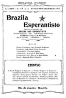 """Brazila Esperantisto : oficiala organo de """"Brazila Ligo Esperantista"""". Jaro 5, numero 7/8 (1913)"""