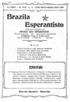 """Brazila Esperantisto : oficiala organo de """"Brazila Ligo Esperantista"""". Jaro 5, numero 9/10 (1914)"""