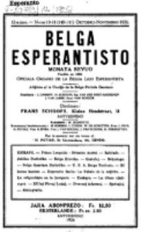 Belga Esperantisto : monata revuo. Jaro 12, nr 10/11=140/141 (1926)