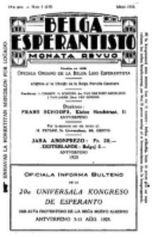 Belga Esperantisto : monata revuo, Jaro 14, nr 5 (1928)