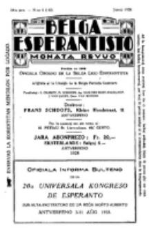 Belga Esperantisto : monata revuo, Jaro 14, nr 6 (1928)