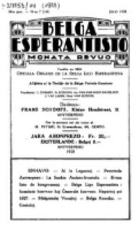 Belga Esperantisto : monata revuo, Jaro 14, nr 7 (1928)