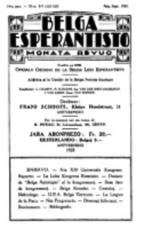 Belga Esperantisto : monata revuo, Jaro 14, nr 8/9 (1928)