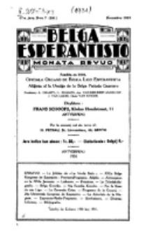 Belga Esperantisto : monata revuo. Jaro 17, nr 7 (1931)