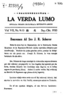 La Verda Lumo : oficiala Organo de Ŝanhaja Esperanto Asocio. Vol. 7, no. 9/10 (1930)