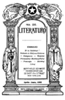 Literaturo : trimonata gazeto Esperanta. Vol 4 , no 2 (1925)