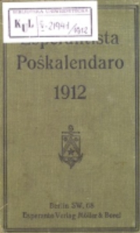 Esperantista Poŝkalendaro 1912