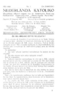 Nederlanda Katoliko. Jg. 23, no. 1 (1938)