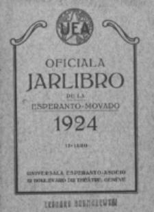 Oficiala Jarlibro. 1924