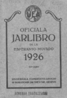 Oficiala Jarlibro. 1926