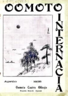 Oomoto Internacia : monata organo de la Universala Homama Asocio. Jaro 11, n-ro 4=116 (1935)