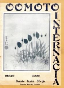 Oomoto Internacia : monata organo de la Universala Homama Asocio. Jaro 11, n-ro 5=117 (1935)