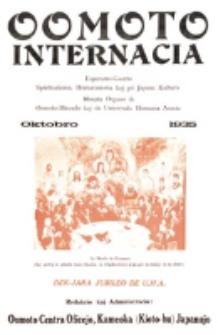 Oomoto Internacia : monata organo de la Universala Homama Asocio. Jaro 11, n-ro 10=122 (1935)