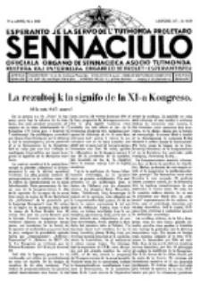 Sennaciulo : oficiala organo de Sennacieca Asocio Tutmonda. Jaro 7 (1931), no 360