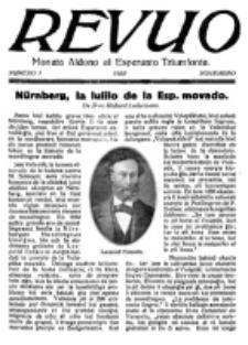 Revuo : monata aldono al Esperanto Triumfonta. 1922, no 1