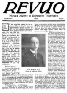 Revuo : monata aldono al Esperanto Triumfonta. 1923, no 7