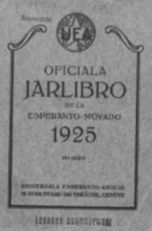 Oficiala Jarlibro. 1925