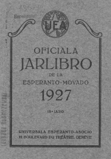 Oficiala Jarlibro. 1927