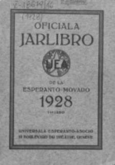 Oficiala Jarlibro. 1928