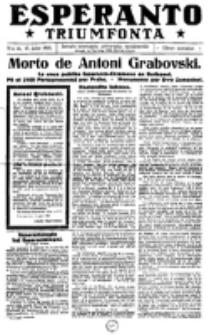 Esperanto Triumfonta : ǰurnalo internacia, universale, sendependa. 1921, no 41