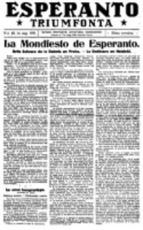 Esperanto Triumfonta : ǰurnalo internacia, universale, sendependa. 1921, no 45