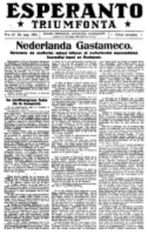 Esperanto Triumfonta : ǰurnalo internacia, universale, sendependa. 1921, no 47