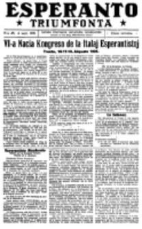 Esperanto Triumfonta : ǰurnalo internacia, universale, sendependa. 1921, no 48
