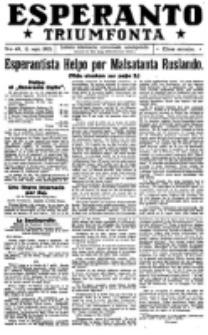 Esperanto Triumfonta : ǰurnalo internacia, universale, sendependa. 1921, no 49