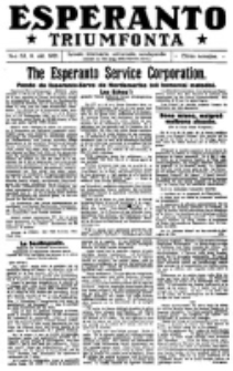 Esperanto Triumfonta : ǰurnalo internacia, universale, sendependa. 1921, no 53