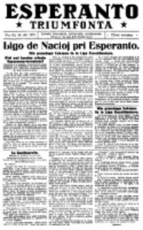 Esperanto Triumfonta : ǰurnalo internacia, universale, sendependa. 1921, no 54