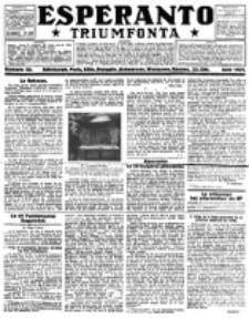 Esperanto Triumfonta : ǰurnalo internacia, universale, sendependa. 1921, no 55