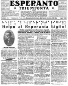Esperanto Triumfonta : ǰurnalo internacia, universale, sendependa. 1921, no 56