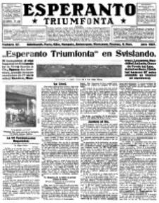 Esperanto Triumfonta : ǰurnalo internacia, universale, sendependa. 1921, no 57