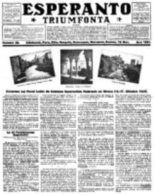 Esperanto Triumfonta : ǰurnalo internacia, universale, sendependa. 1921, no 58