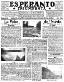 Esperanto Triumfonta : ǰurnalo internacia, universale, sendependa. 1921, no 59