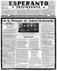 Esperanto Triumfonta : ǰurnalo internacia, universale, sendependa. 1921, no 60