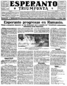 Esperanto Triumfonta : ǰurnalo internacia, universale, sendependa. 1921, no 61