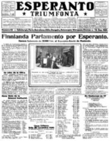 Esperanto Triumfonta : ǰurnalo internacia, universale, sendependa. 1921, no 63
