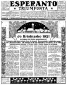 Esperanto Triumfonta : ǰurnalo internacia, universale, sendependa. 1921, no 64