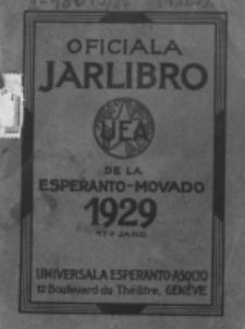 Oficiala Jarlibro. 1929
