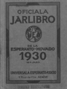 Oficiala Jarlibro. 1930