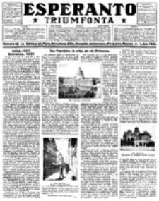 Esperanto Triumfonta : ǰurnalo internacia, universale, sendependa. 1922, no 65